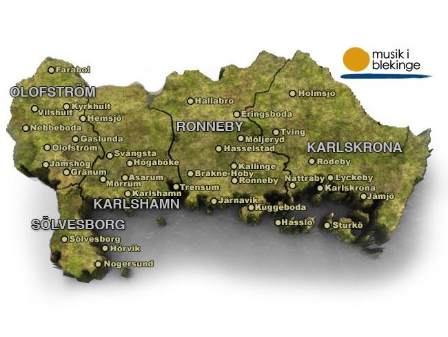Kommuner I Blekinge Karta.Start